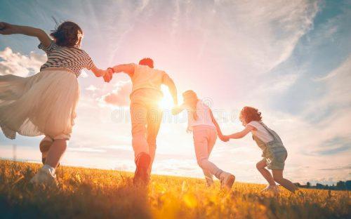 happy-family-autumn-walk-father-daughters-walking-park-enjoying-beautiful-nature-157622146